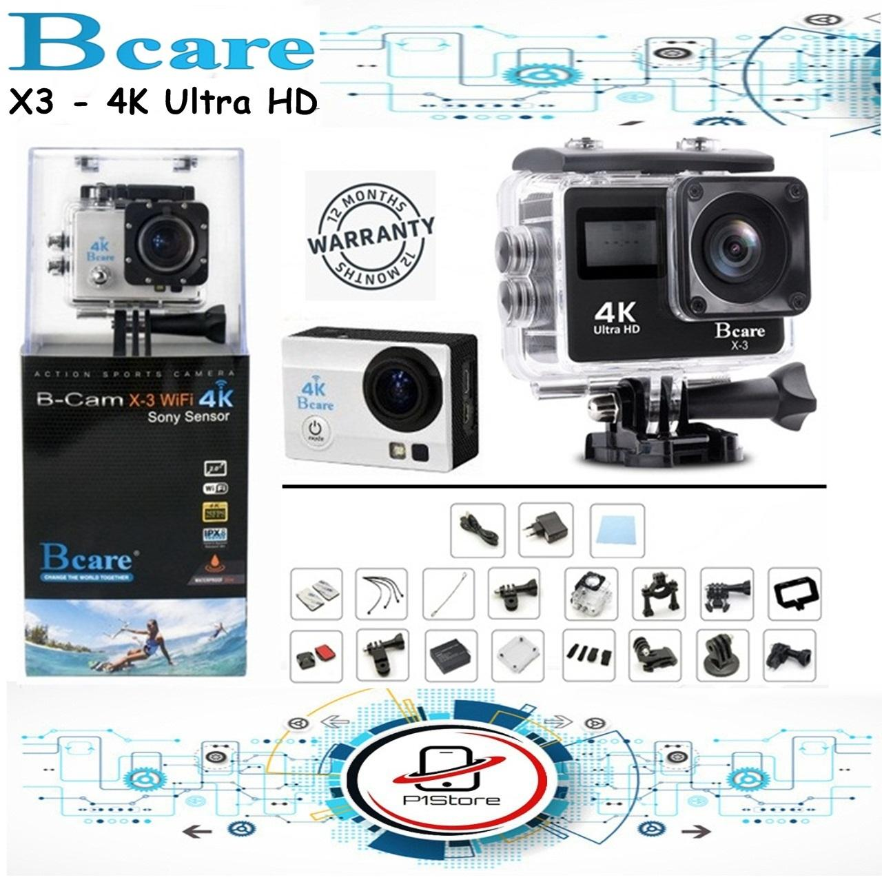 Bcare BCam X-3 Action Camera WiFi 16 MP SonySensor 4K DUALSCREEN