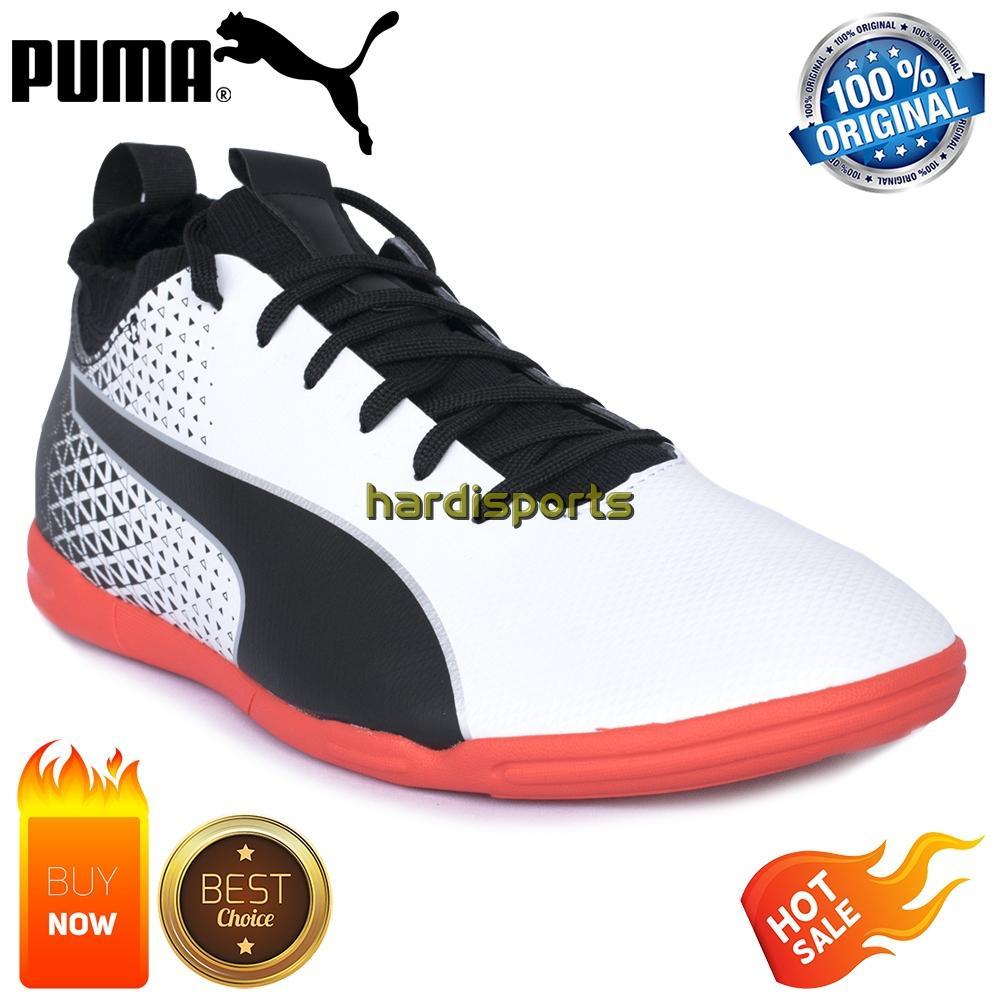 Sepatu Futsal Pria Puma evoKNIT FTB IT 104073-01 - White 2e2dbb85de
