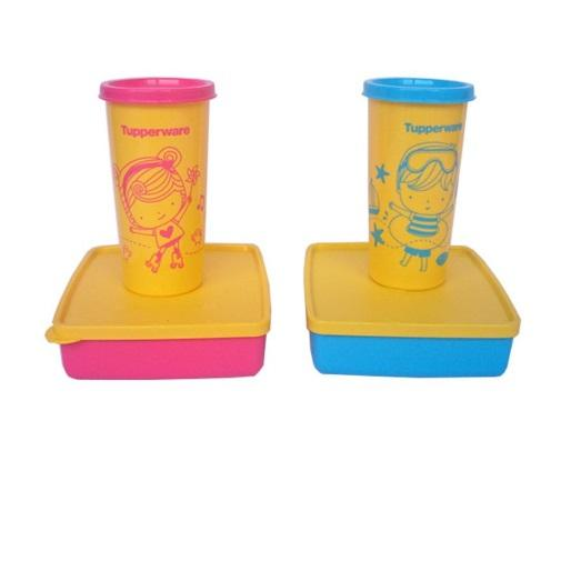 Tupperware Happy Days - Pink-Biru