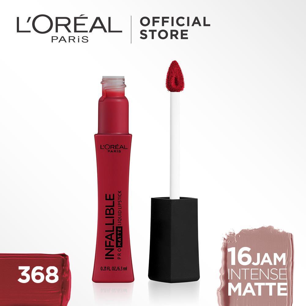 L'Oreal Paris Lipstik Matte Liquid Tahan Lama Infallible Pro-Matte Liquid Lip 6.3