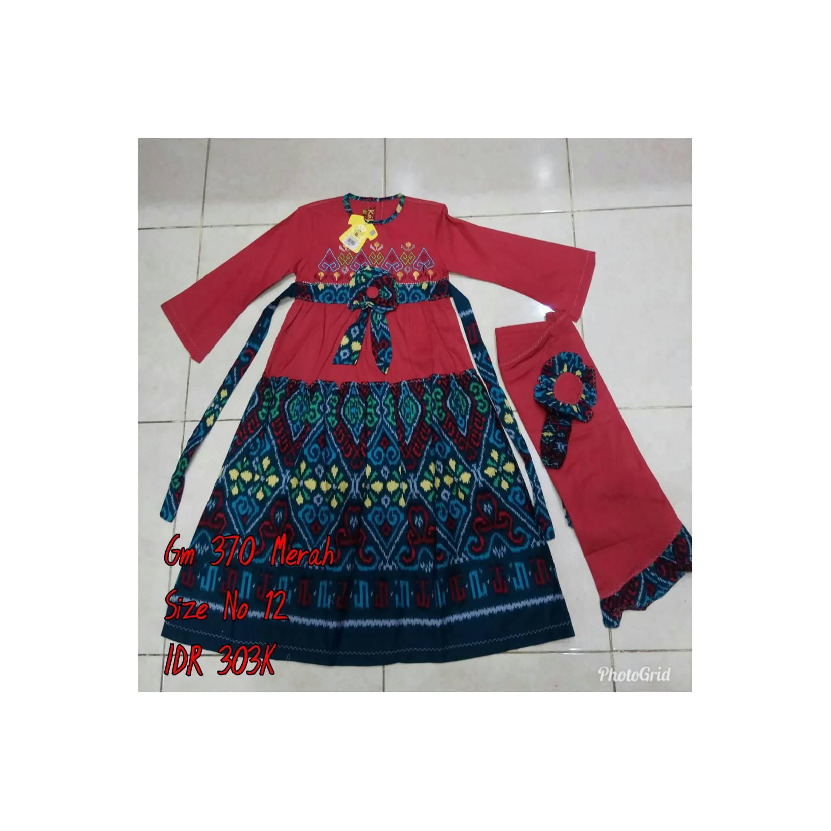 Keke Baju Anak Muslim GM 370 Merah No12 Diskon / Sale / Obral 25%