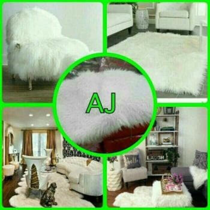 Promo Karpet bulu putih domba OmahBarang - jmgIMX