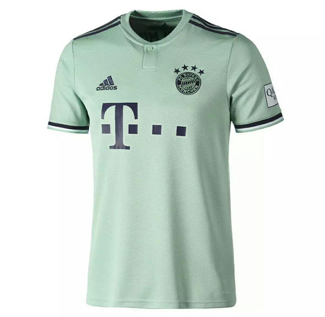 Kalpes-Jersey Bola Replica Shirt Jersey Away Bayern Mun 18/19 Ukuran S M L XL