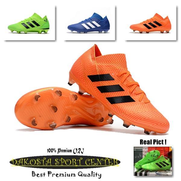 SEPATU BOLA - Soccer Adidas Nemeziz 18.1 FG - Blue Black, Orange Black, Green Black