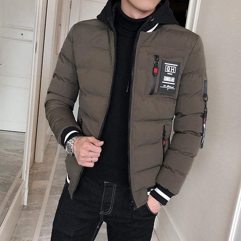 Dipakai dua sisi baju katun jaket pria Musim Dingin 2018 model baru Gaya  Korea Bulu angsa 7e97930010
