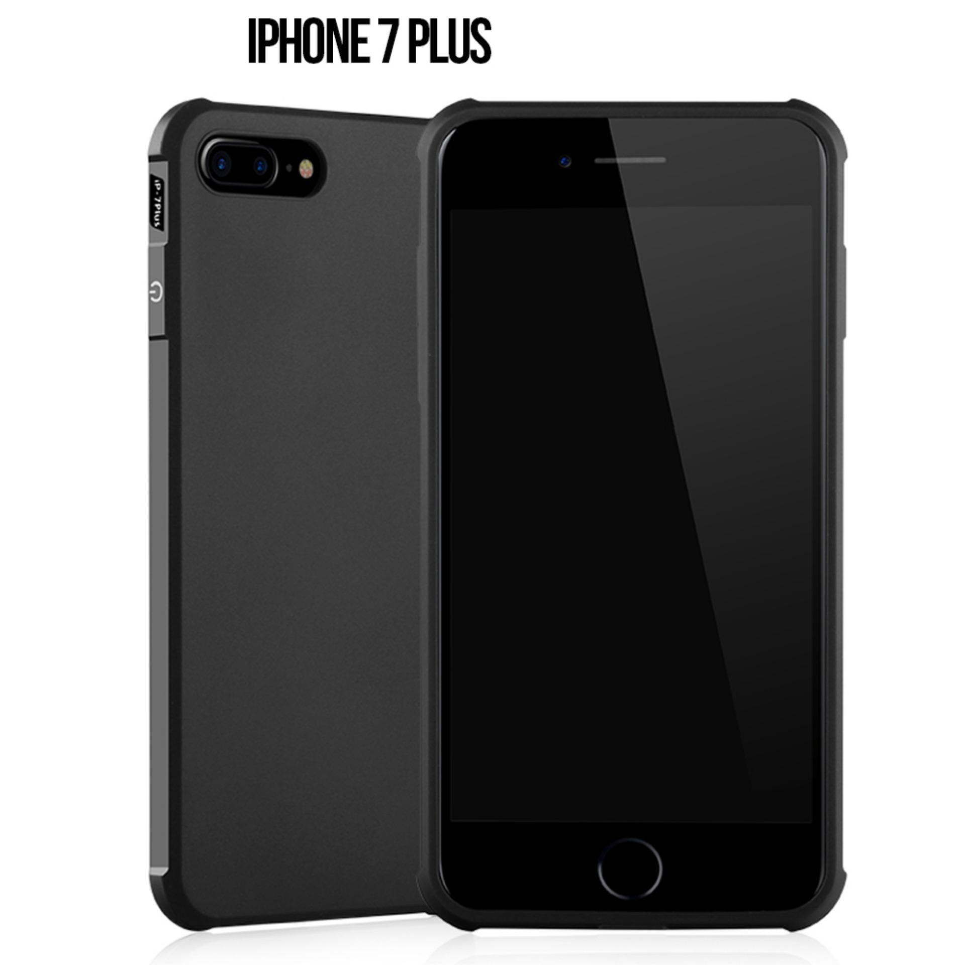 Case iphone 7 Plus COCOSE Drop resistance anti Shock Silicone Case Cover - Hitam