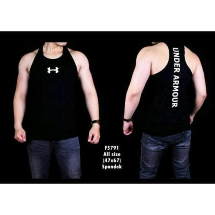 baju kaos singlet gym fitness training tanktop pria VENUM under armour