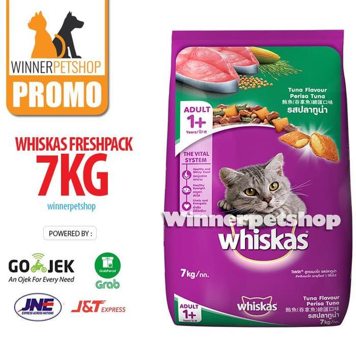Whiskas 7KG 7 kg 7 Kilo (Freshpack) Makanan Kucing Karungan RASA tuna