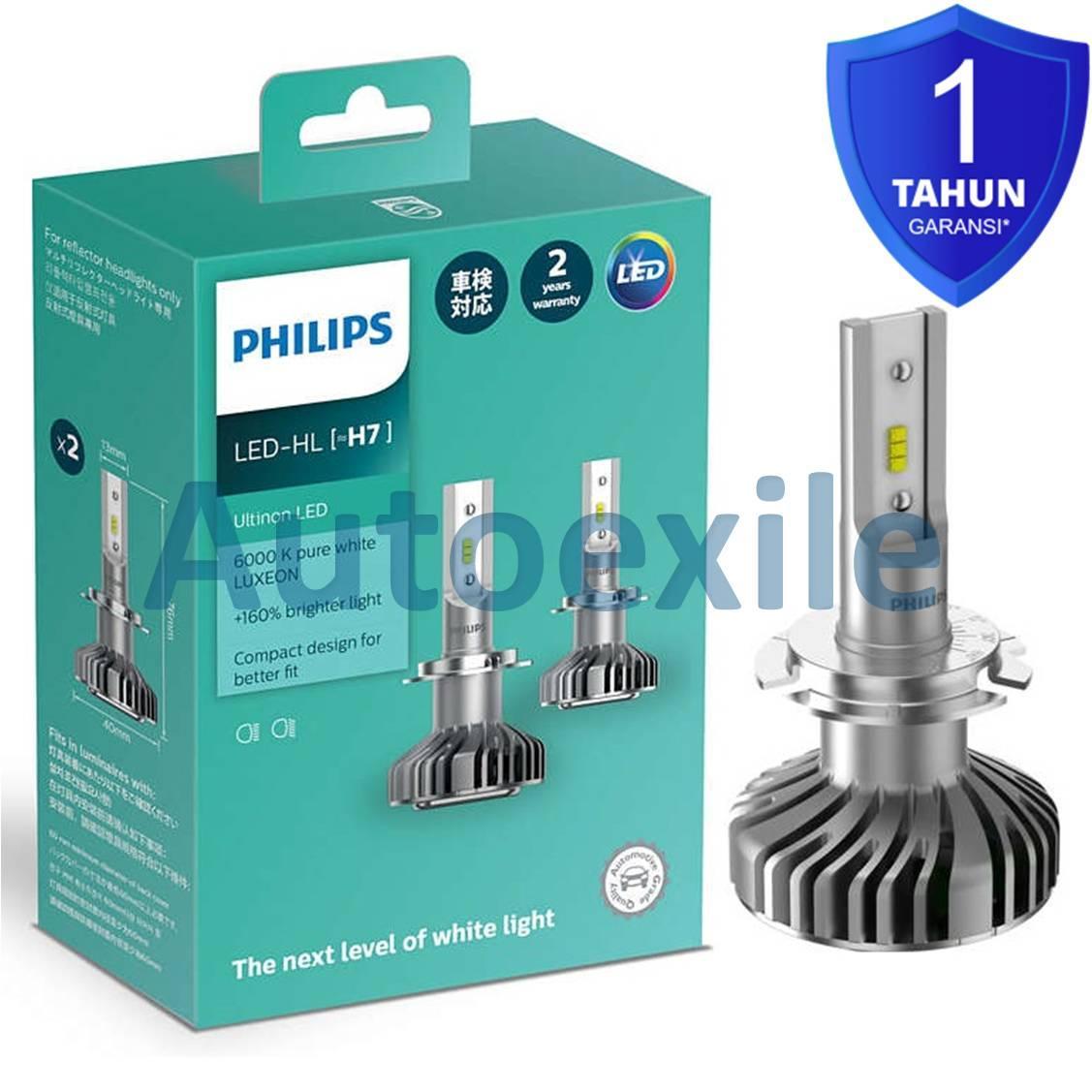 Philips Ultinon LED H7 12V 14W +160% 6000K Lampu Mobil Putih Terang Fokus Garansi Fiesta BMW Mercy Volvo Mazda 3 6 CX7 Captiva Celica