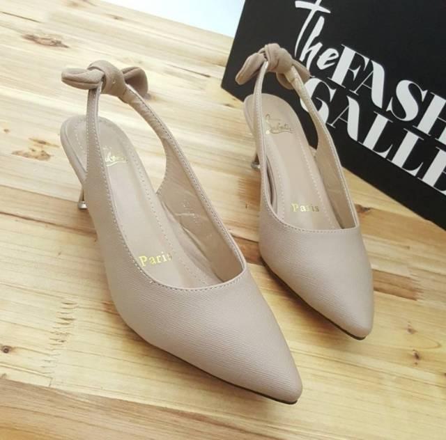 Sepatu Heel Wanita Tali Belakang MOCCA