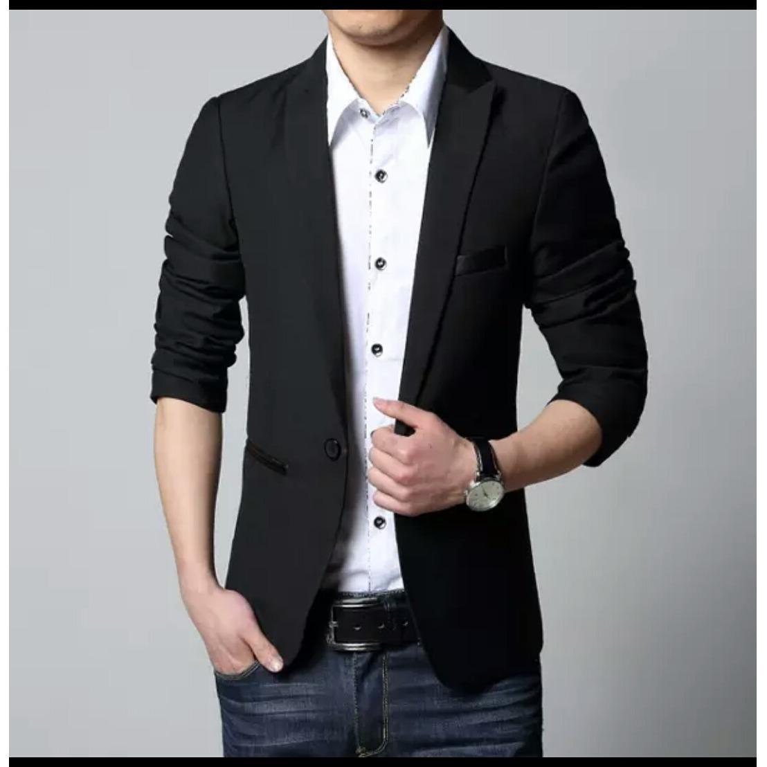 Jas Blazer pria Stylish Black   Blazer Resmi   Blazer Casual   Blazer Pria    Blazer d3b852085f