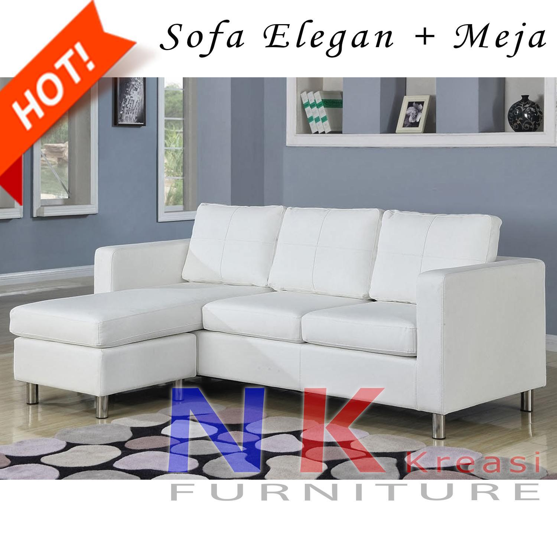 Sofa kursi Ruang Tamu L Minimalis mewah, sofa sudut modern - JABODETABEK ONLY