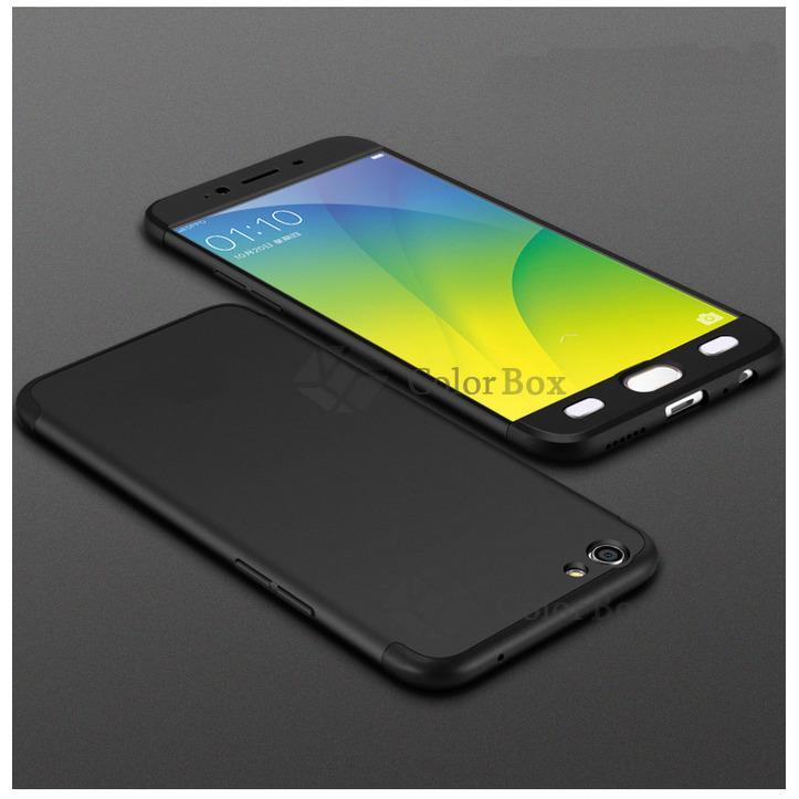 MR Case 360 Oppo A59  / Case Oppo F1s / Case Fullbody Depan Belakang Oppo A59 / Silikon A59 F1s Oppo / Casing Baby Skin Oppo F1s / Soft Case 360 Full Body OppoA59 / Ultrathin Oppo  Slim Depan Dan Belakang 2in1 - Black