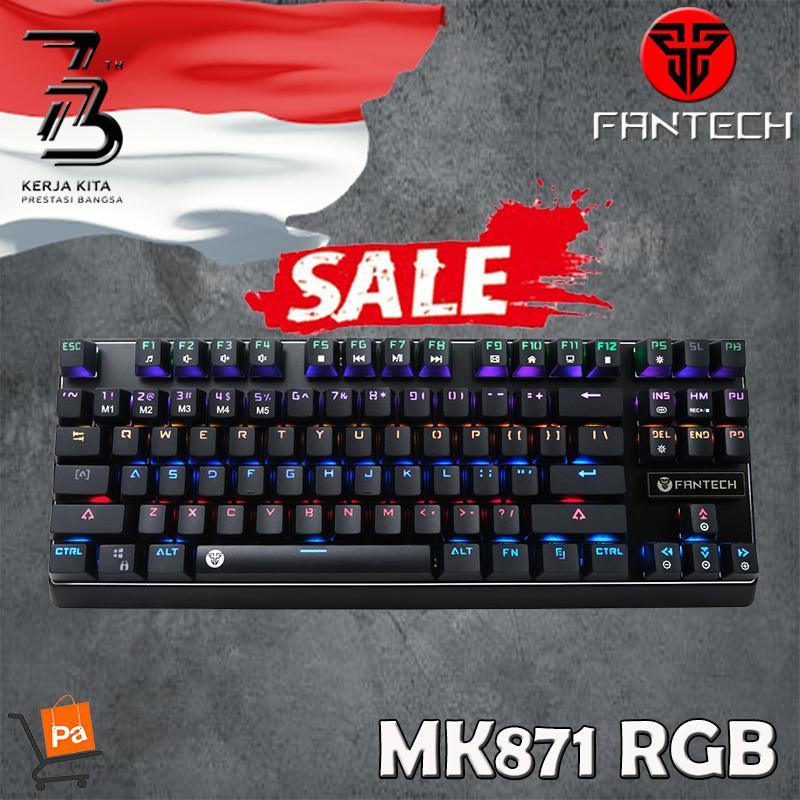 Fantech Keyboard Gaming Pantheon Mechanical MK 871- Blue Switch (NEW RGB EDITION)