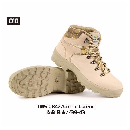 Aleganza Supreme Quality Sepatu Gunung Outdoor Tkkn 010 [Cream Loreng]
