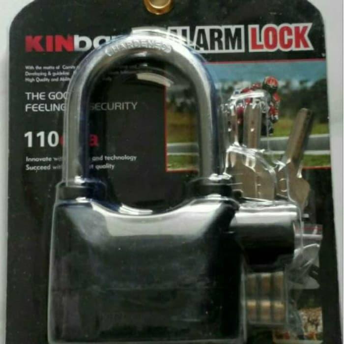 BEST SELLER!!! Gembok Alarm motor mobil rumah toko gudang merek Kinbar - VEy14A