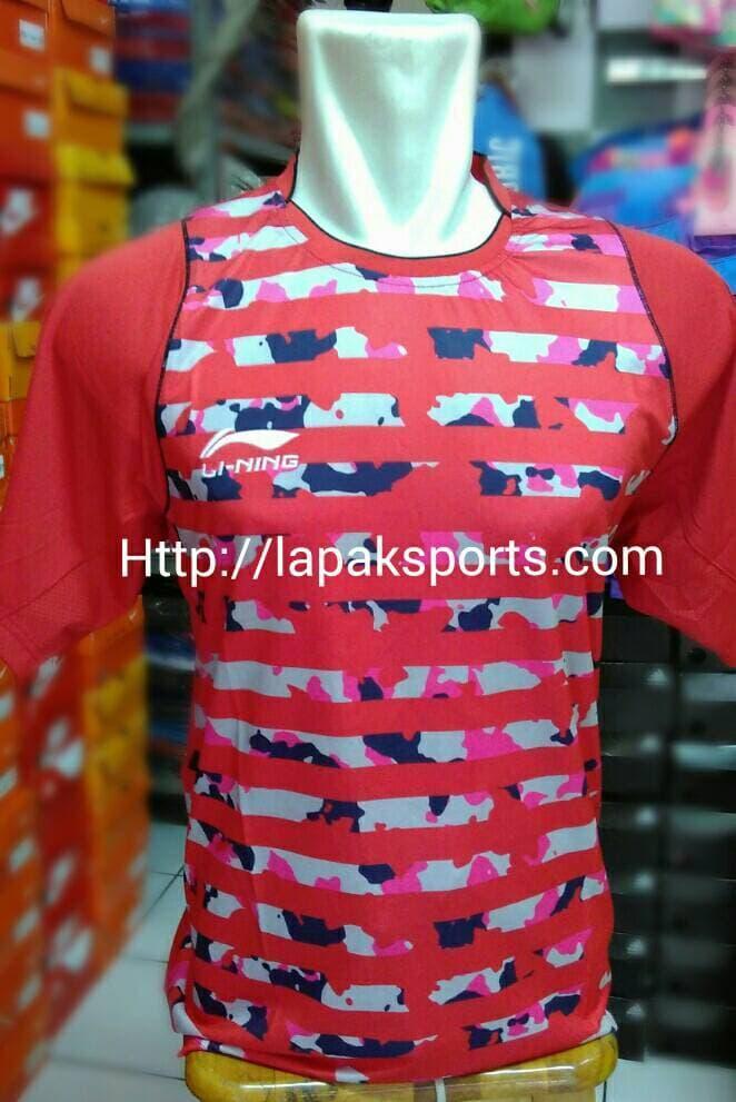 ORIGINAL!!! kaos badminton lining 67 merah - peWHJw