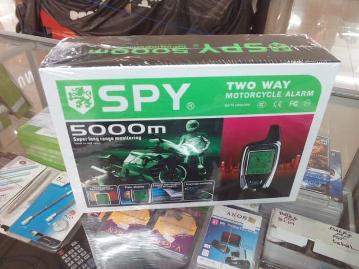 ALARM MOTOR SPY 5000M | ( gembok alarm motor anti maling koper sepeda pagar cakram kinbar kode tas mobil clock rumah sensor gerak pintu digital remote lock bht ) |