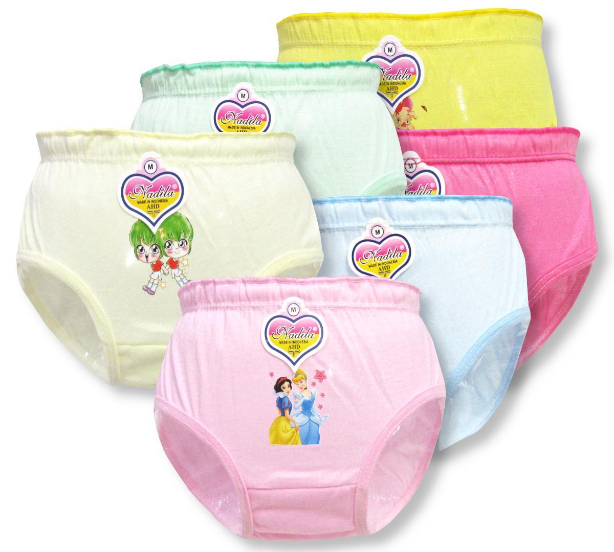 Wulanda 6 pcs cd celana dalam anak perempuan murah warna 093e1ea7b7