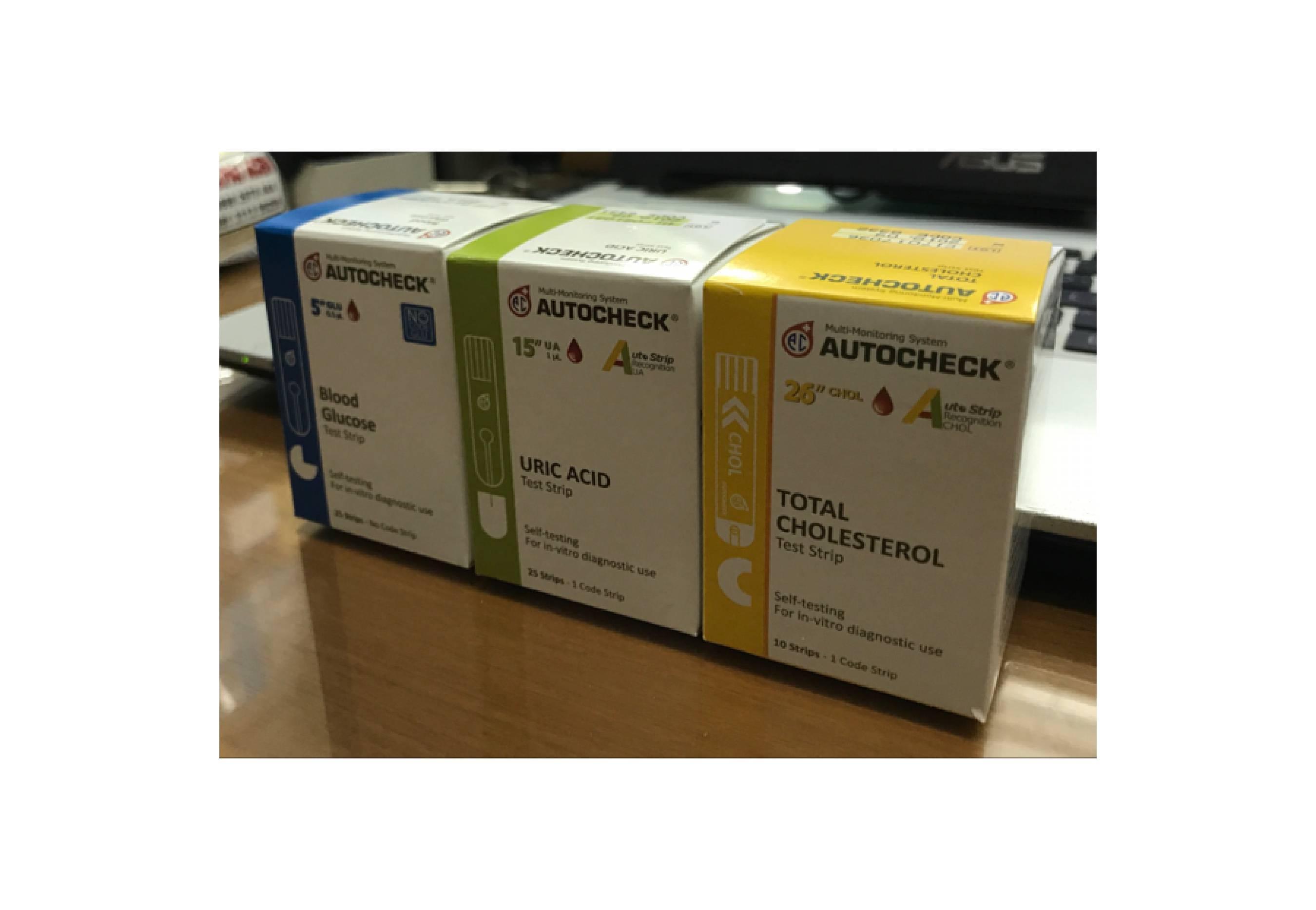 Buy Sell Cheapest Promo Autocheck Paket Best Quality Product Deals Strip Kolestrol Gula Asam Urat Refill Gcu