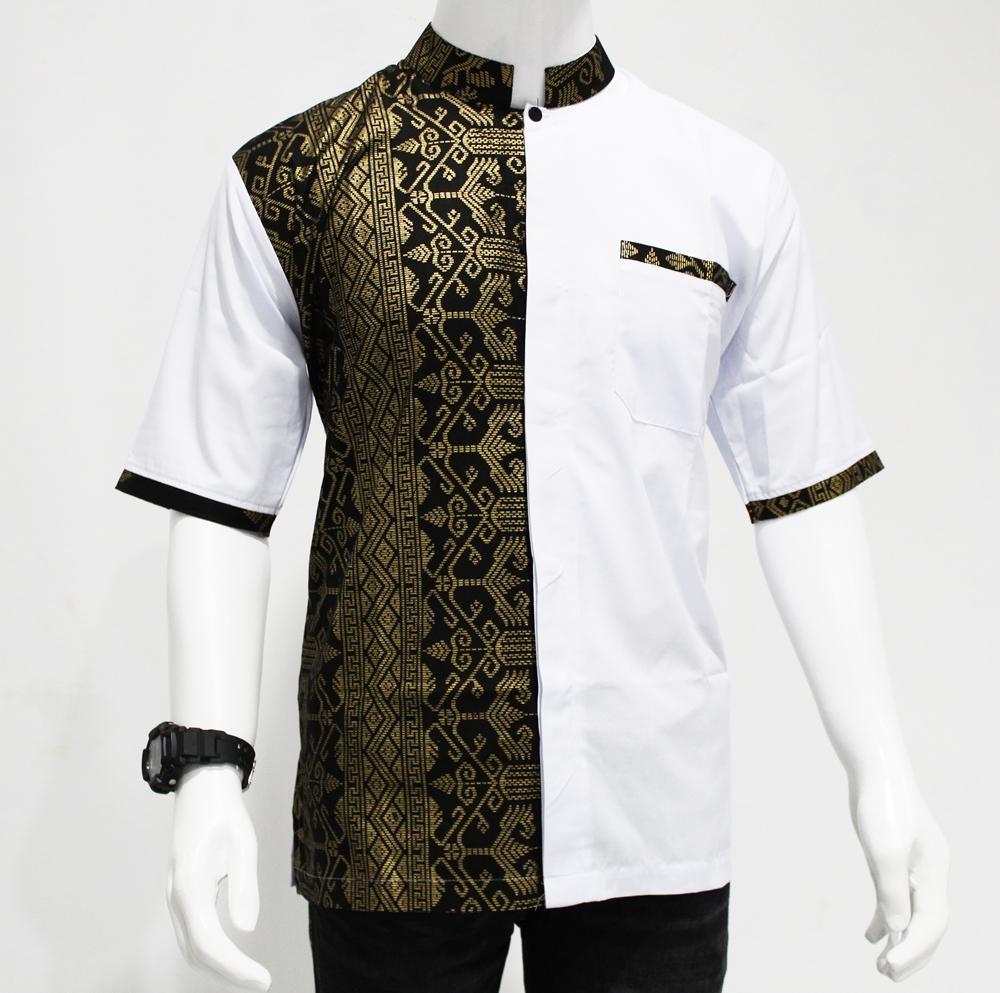 kemeja koko Model Baju Batik pria modern / Hem Batik Kombinasi Exclusive