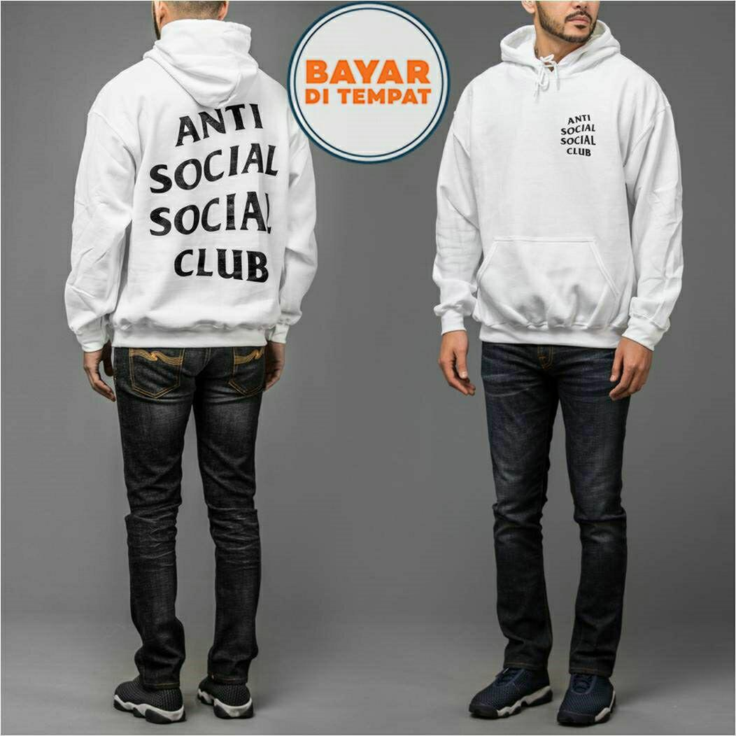 Jaket Sweater Hoodie Anti Social Social Club Unisex Best Seller - White
