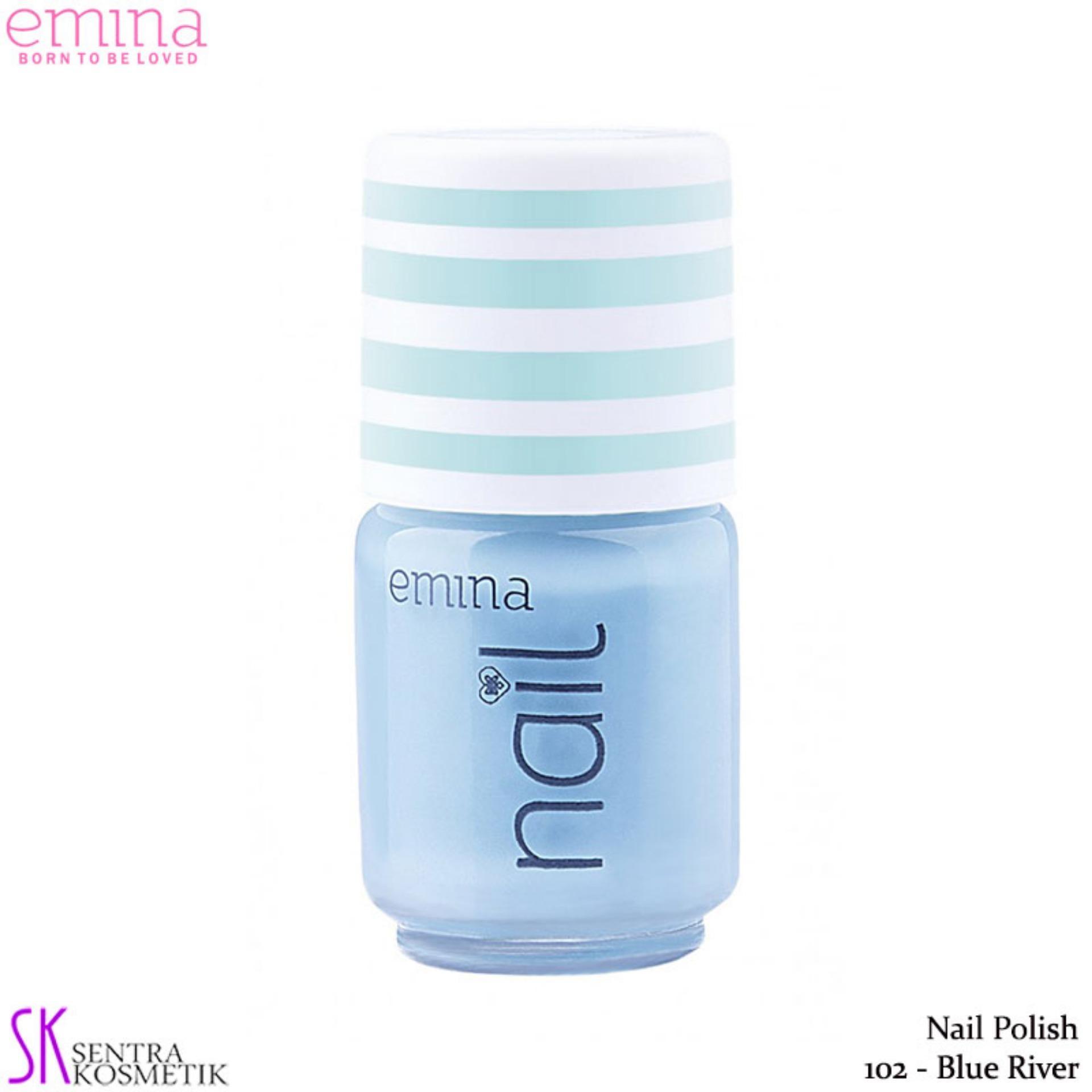 Emina Nail Polish Water Base 102 Blue River - 5 Ml By Sentra Kosmetik.