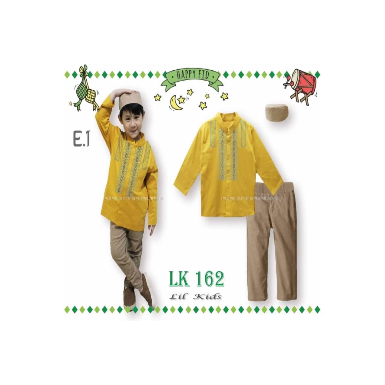 Promo LK162 E1 Besar Baju Koko Panjang Anak Import Lebaran Peci Kunin