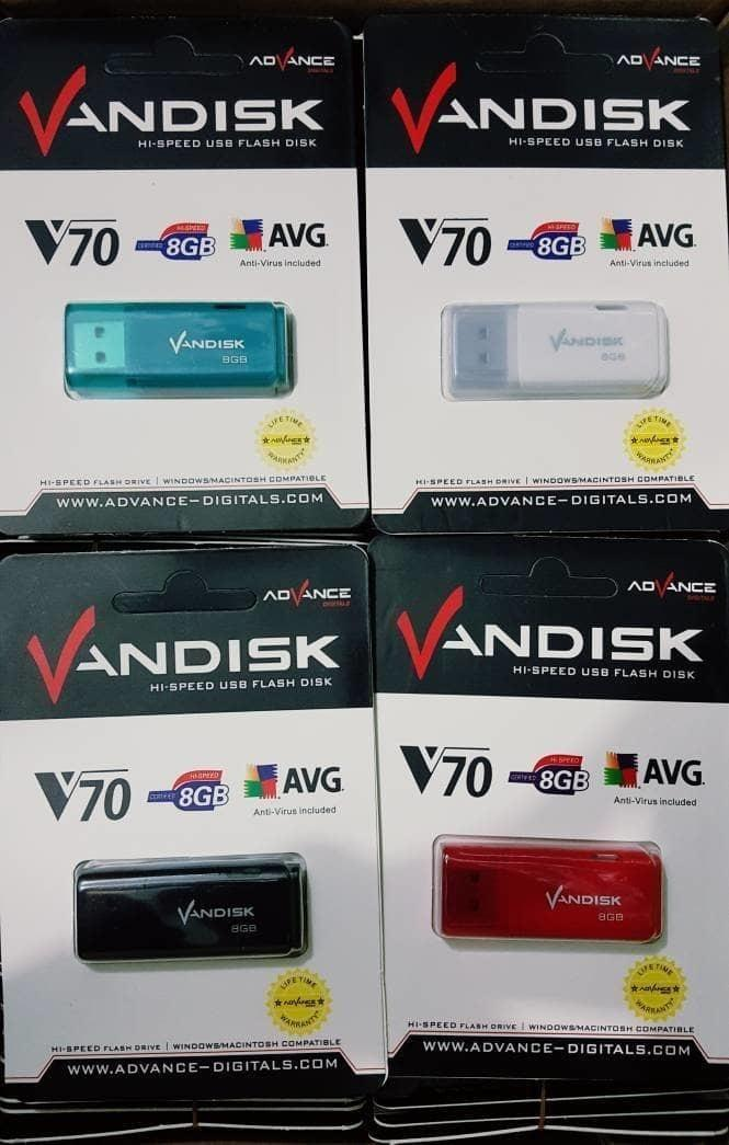 flashdisk VANDISK 8gb USB FLASH DISK 8gb V70 REAL BERGARANSI