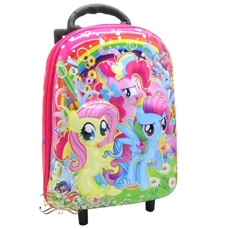 Tas sekolah Anak TK PAUD Timbul 6 dimensi - Tas Troli Trolley mini 6 dimensi motif My Little Pony