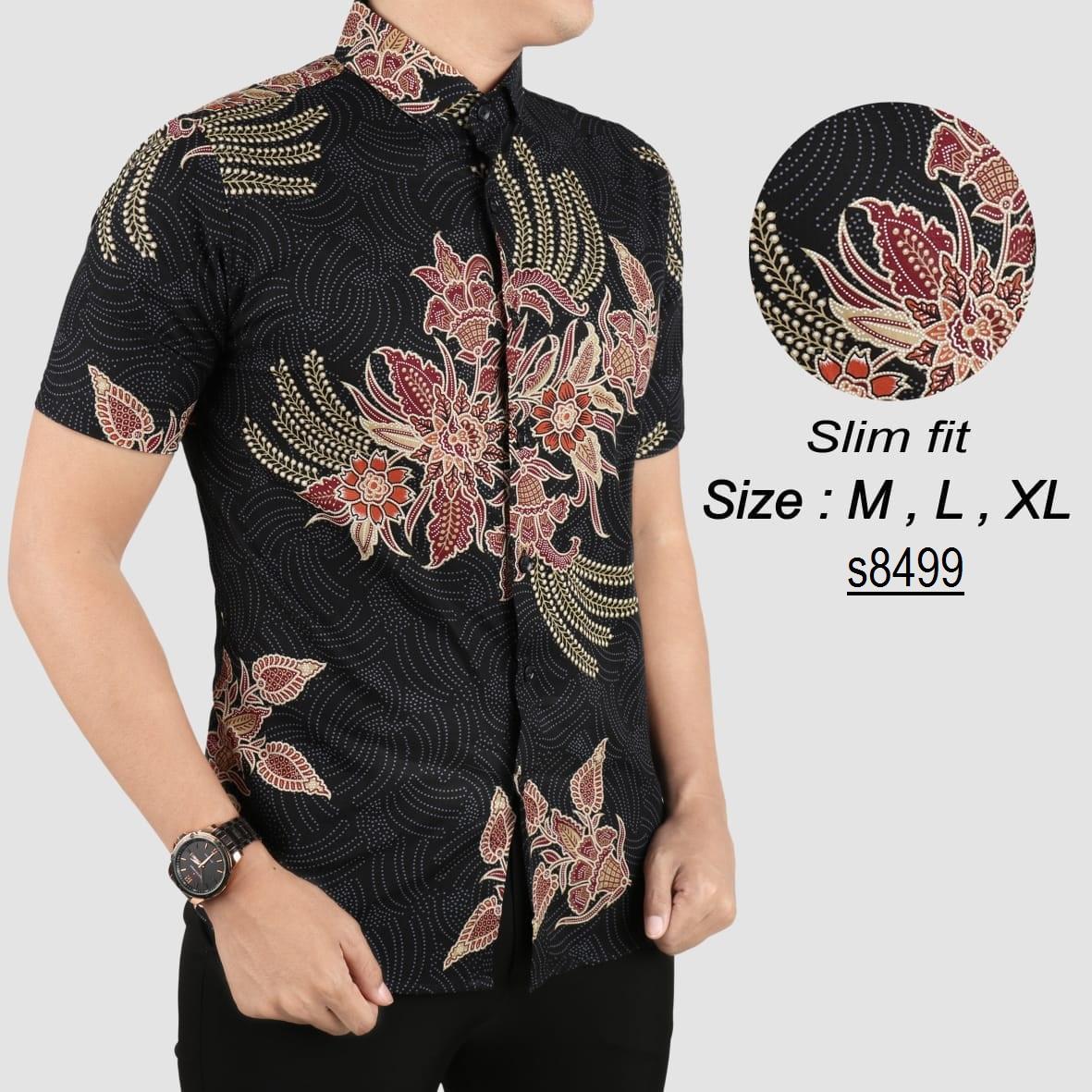 Batik Pria Modern Kemeja Pria Slim fit WW63
