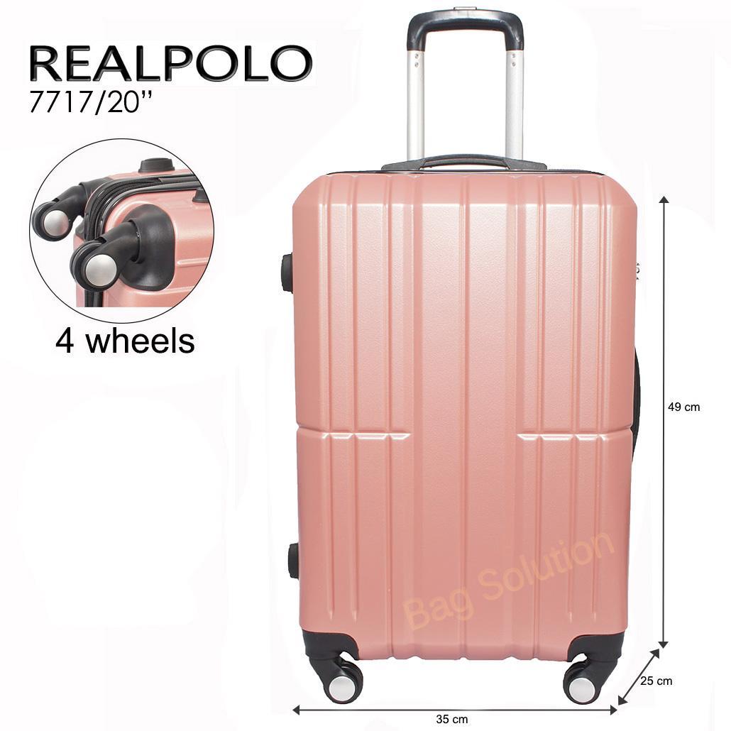 Real Polo Tas Koper Kabin Hardcase Fiber ABS - 4 Roda Putar - Size 20 Inch