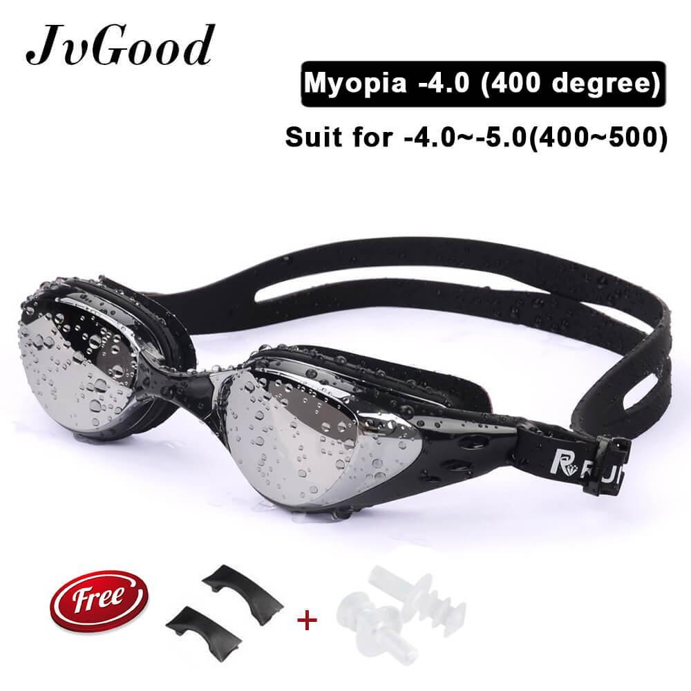 Jvgood Kacamata Renang Minus (Myopia) anti Berkabut-Embun-Berenang Kacamata Olahraga (-2.00 ~-5.00)