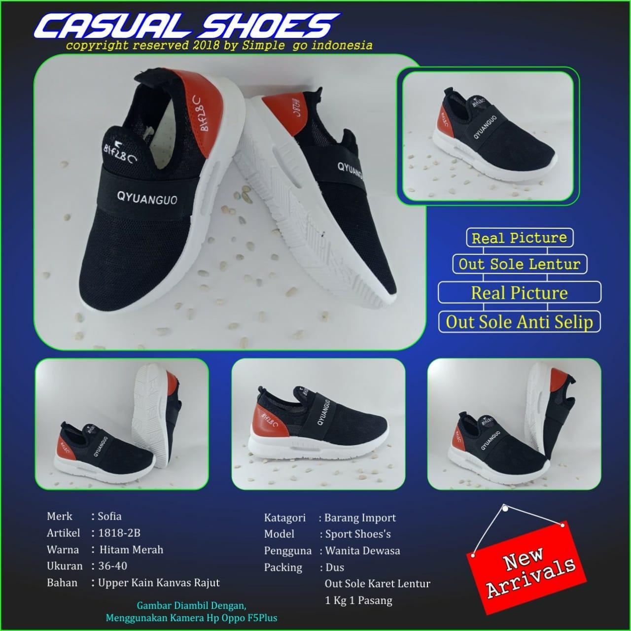 Sofiya 1818 -2b running shoes import wanita 36-40