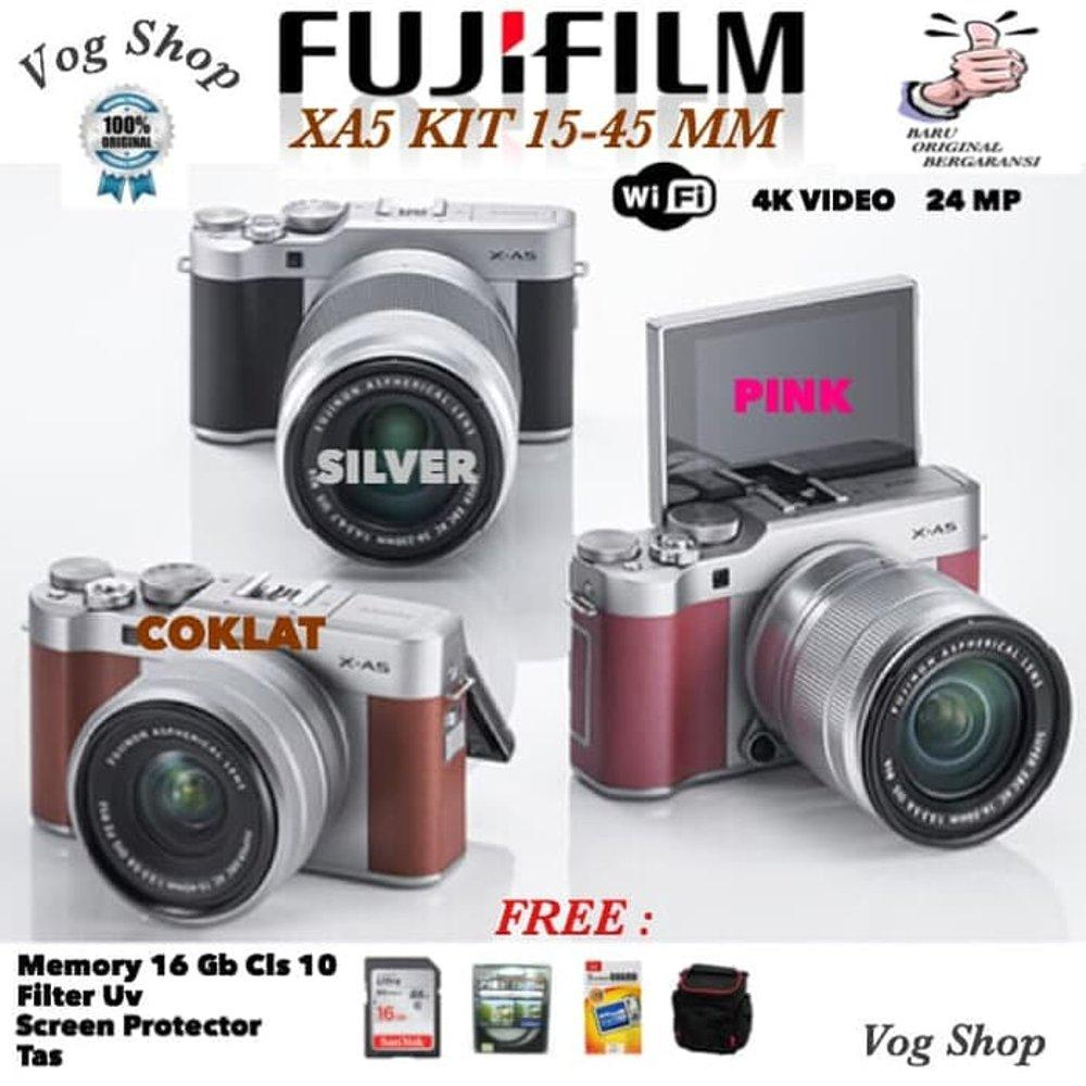 Kamera Mirrorless FUJIFILM XA5 KIT 15-45 MM Single Kit