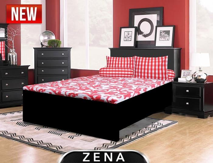 Sprei My Love Zena No.1 King 180 T30 Seprai Batik Strip Merah Putih By Afrian Store.
