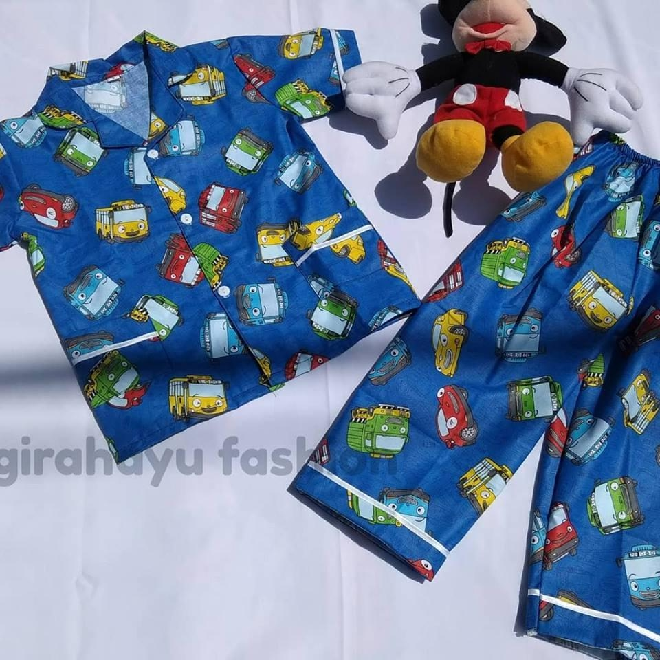 Harga Jual Kid S Piyama Anak Cowok Pajamas Baju Tidur Sleepwear Gw Cowo Dino Karakter Tayo Pria Usia 1 6 Tahun