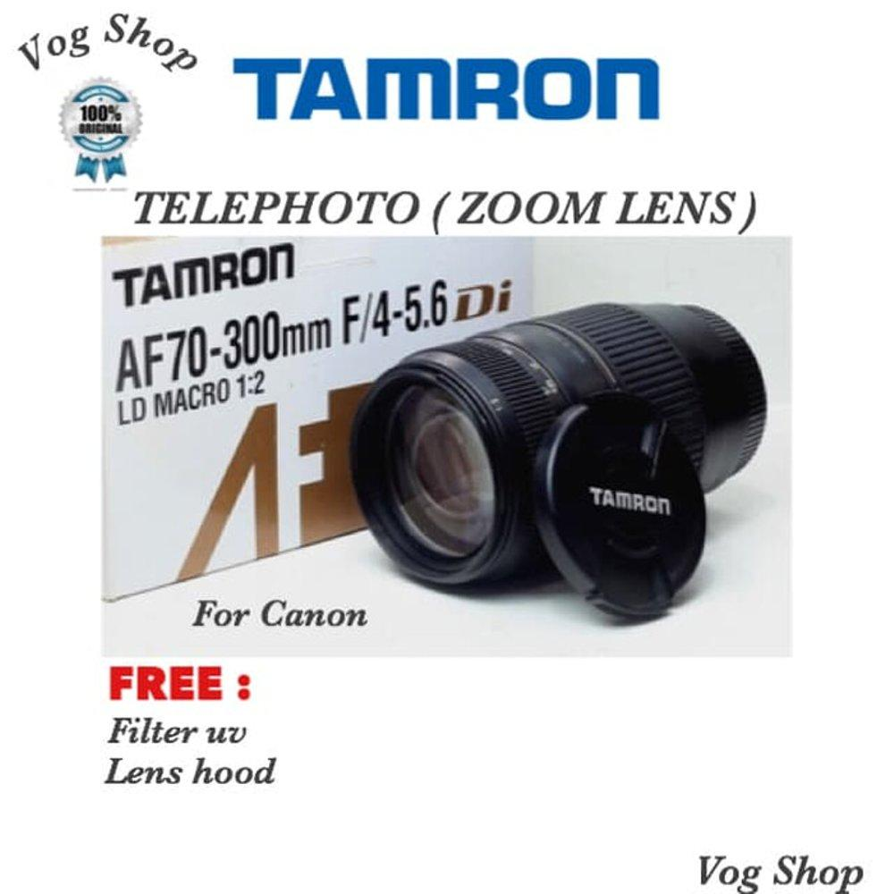 Lensa Telephoto TAMRON 70-300 MM DI MACRO FOR CANON