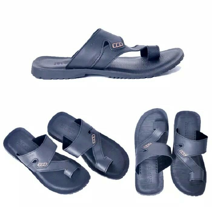 Best Top Seller!! Sandal Kulit Geox Casual - Hitam - ready stock
