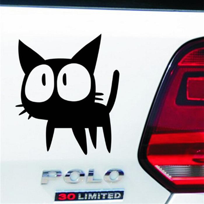 Limited Edition Aksesoris Stiker Mobil Kucing Kaget Cat Body Kaca Car Decal Sticker