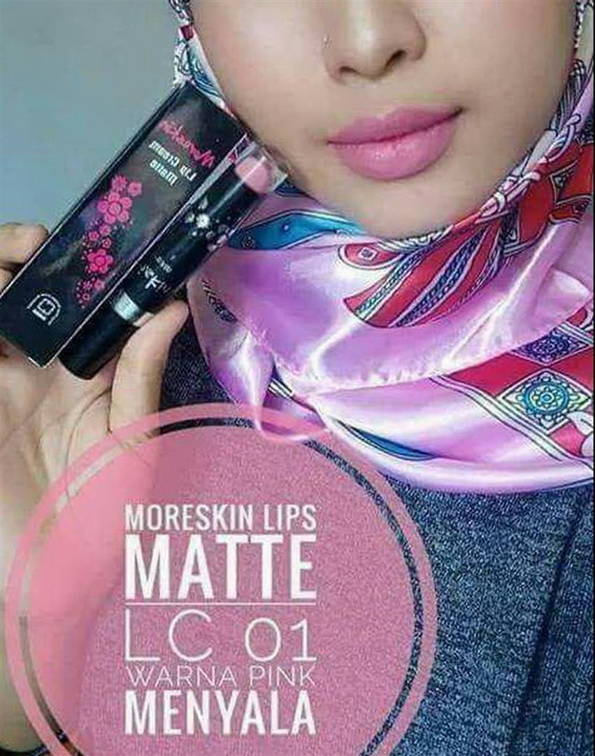 LC01MN Moreskin LipCream Merah Maroon Lipstik Original Nasa Alami Aman