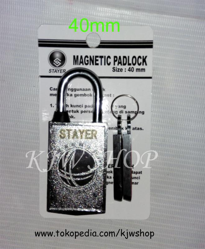 Gembok Magnet Magnit Pintu Harmonika 40mm