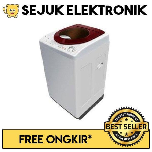 Polytron PAW 9511WM Mesin Cuci Top Loading 9.5 Kg - Maroon (khusus JADETABEK)