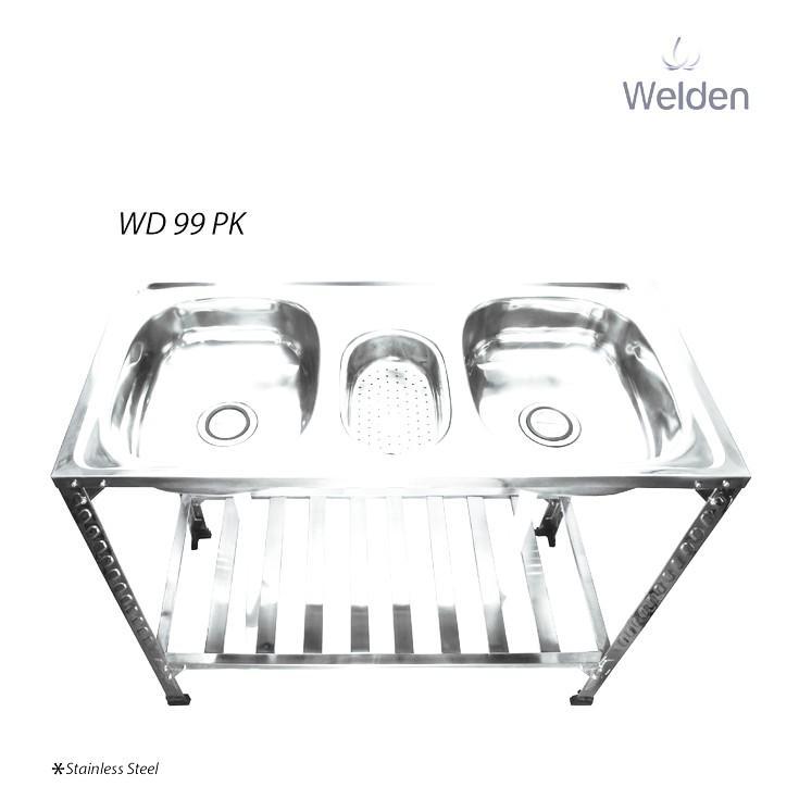 Bak Cuci Piring - Kitchen Sink Kaki Meja Portable Welden 99Pk - Ojnmkg