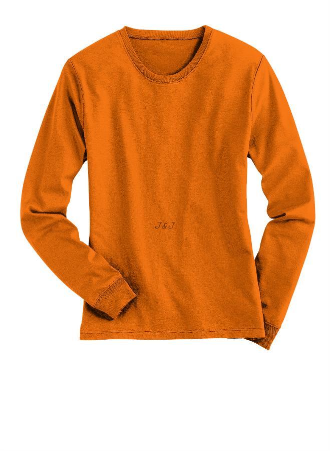 Best Seller!! Jual Kaos Polos Lengan Panjang Katun Orange 3Xl - 4Xl Big Size Jumbo - ready stock
