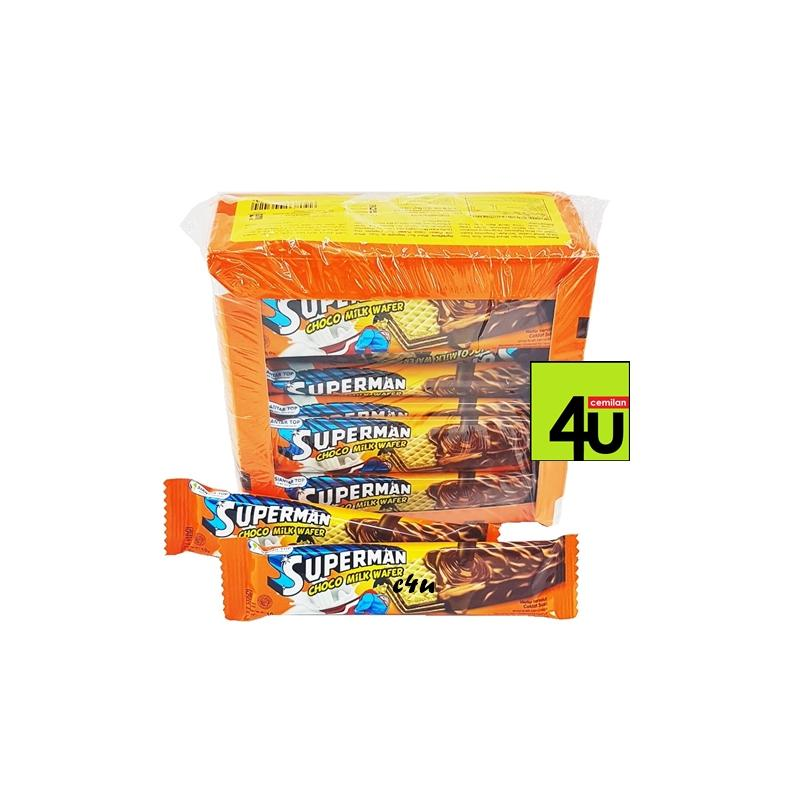 Superman - Wafer Salut Cokelat Susu 20x10gr - Paket 2 kotak