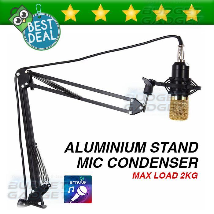 Mikrofon Stand Microphone Dudukan Gantung Suspension Boom Scissor Arm Stand