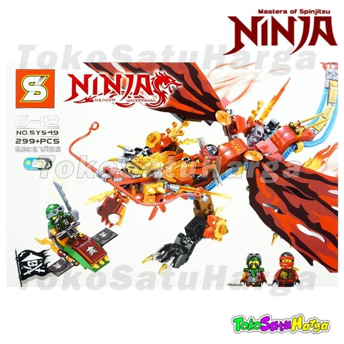 TSH Brick SY 549 Ninja Ninjago Thunder Swordsman Kai Red Fire Dragon Naga