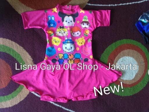 HOT PROMO!!! Baju Renang Karakter Anak Balita / Baju Renang Rok Anak Tsum Tsum - JFtjUS