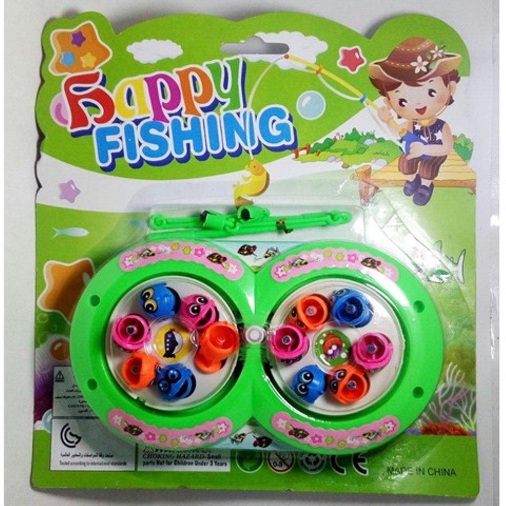 set memancing ikan pancingan magnet berputar happy fishing mainan anak  game # TOKO MAINAN TOYS STORE tokomainantoysstore